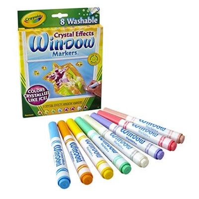 Crayola Washable Crystal Effects Window Markers (8-Pack)