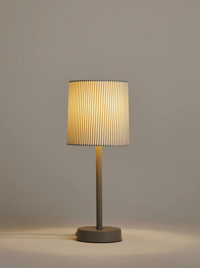 Anyday Eastbourne Stick Table Lamp, Grey