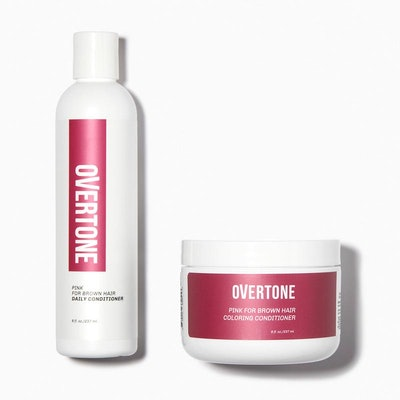 Pink for Brown Hair Healthy Color Duo