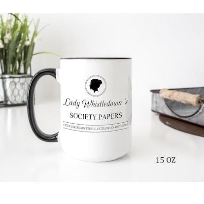 Lady Whistledown Mugs, Bridgerton Series