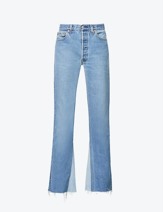 Upcycled Farrah Flared High-Rise Regular-Fit Jeans