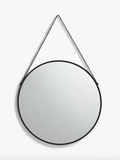 Anyday Thin Metal Frame Round Hanging Mirror