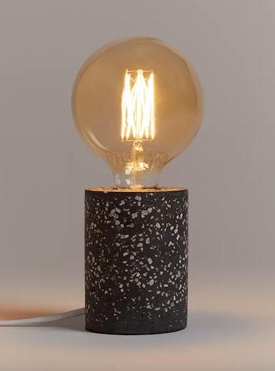 Anyday Terrazzo Bulbholder Table Lamp, Steel Grey