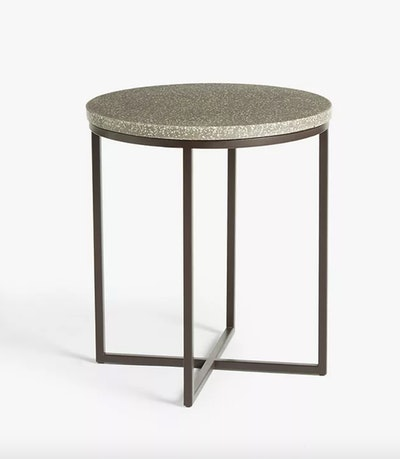 Anyday Rayna Terrazzo Large Side Table, Pink/Grey