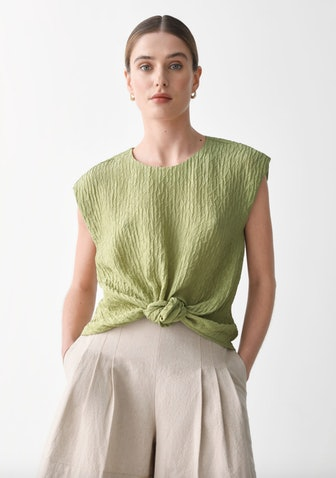 Textured Mulberry Silk Top