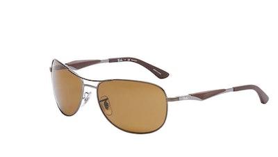 Ray-Ban RB3519 Matte Gunmetal Polarized Sunglasses
