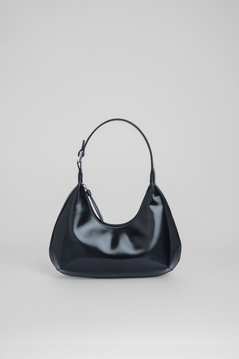 Baby Amber in Black Semi-Patent Leather