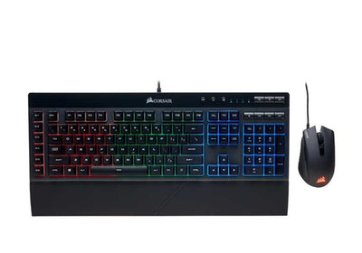 CORSAIR K55 RGB Gaming Keyboard and Harpoon RGB Gaming Mouse Combo