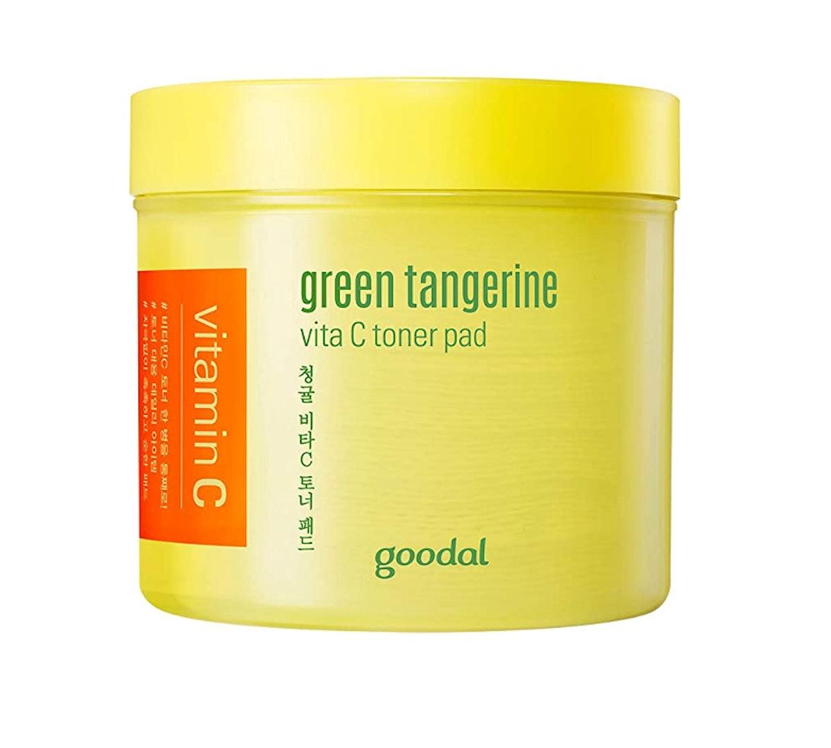 Goodal Green Tangerine Vitamin C Toner Pads