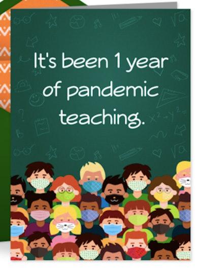 1 Year of Pandemic Teaching Card