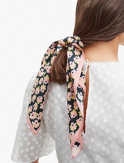 Colorblock Floral Hair Tie & Bandana Set