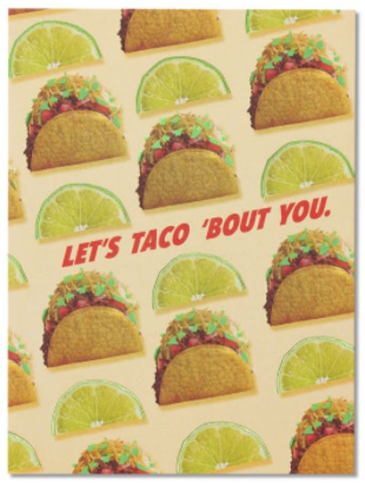 Let's Taco Bout You Card