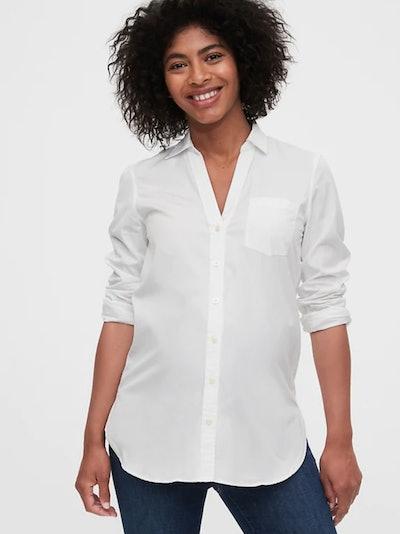 Maternity Poplin Shirt