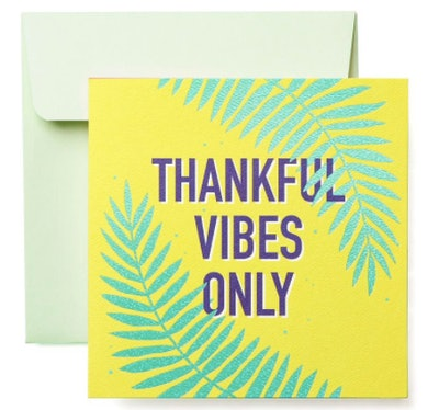 Thanksful Vibes Only Card