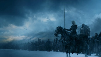 The White Walkers marching on the Wall in Game of Thrones season 7 finale