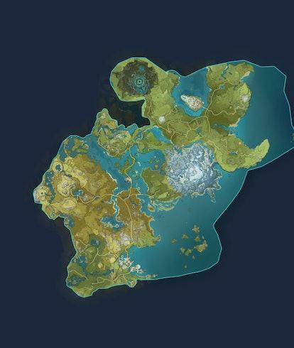 Genshin Impact world map Teyvat