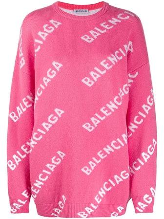 All-over logo-print jumper