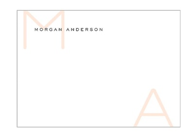 Large Initials Stationery (100 ct)