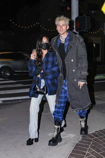 Machine Gun Kelly and Megan Fox cozy up after a romantic dinner at Via Veneto restaurant in Santa Monica.