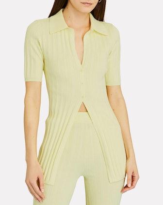 Waverly Rib Knit Polo Cardigan