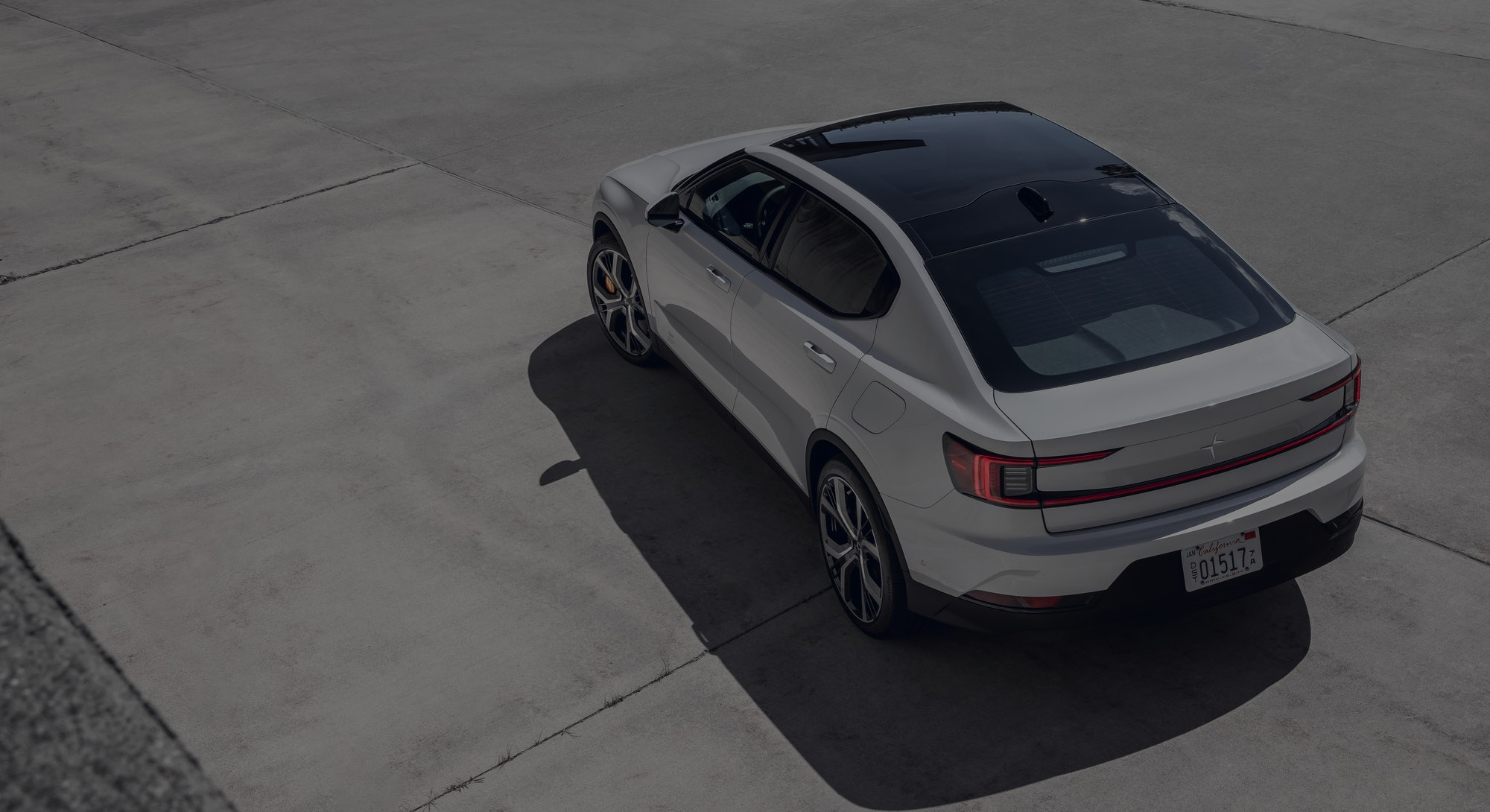 Polestar 2 from above