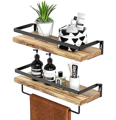 Amada Rustic Floating Shelves (Set of 2)