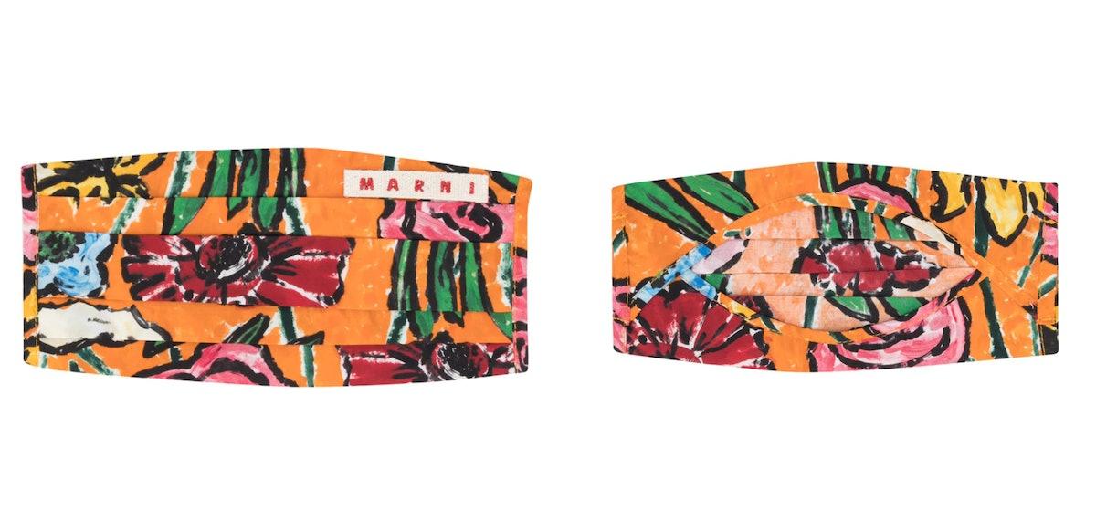 Marni Abstract Floral Print Face Mask