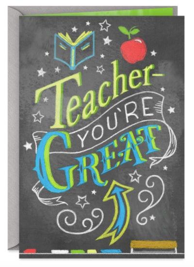Blackboard Thank You Card