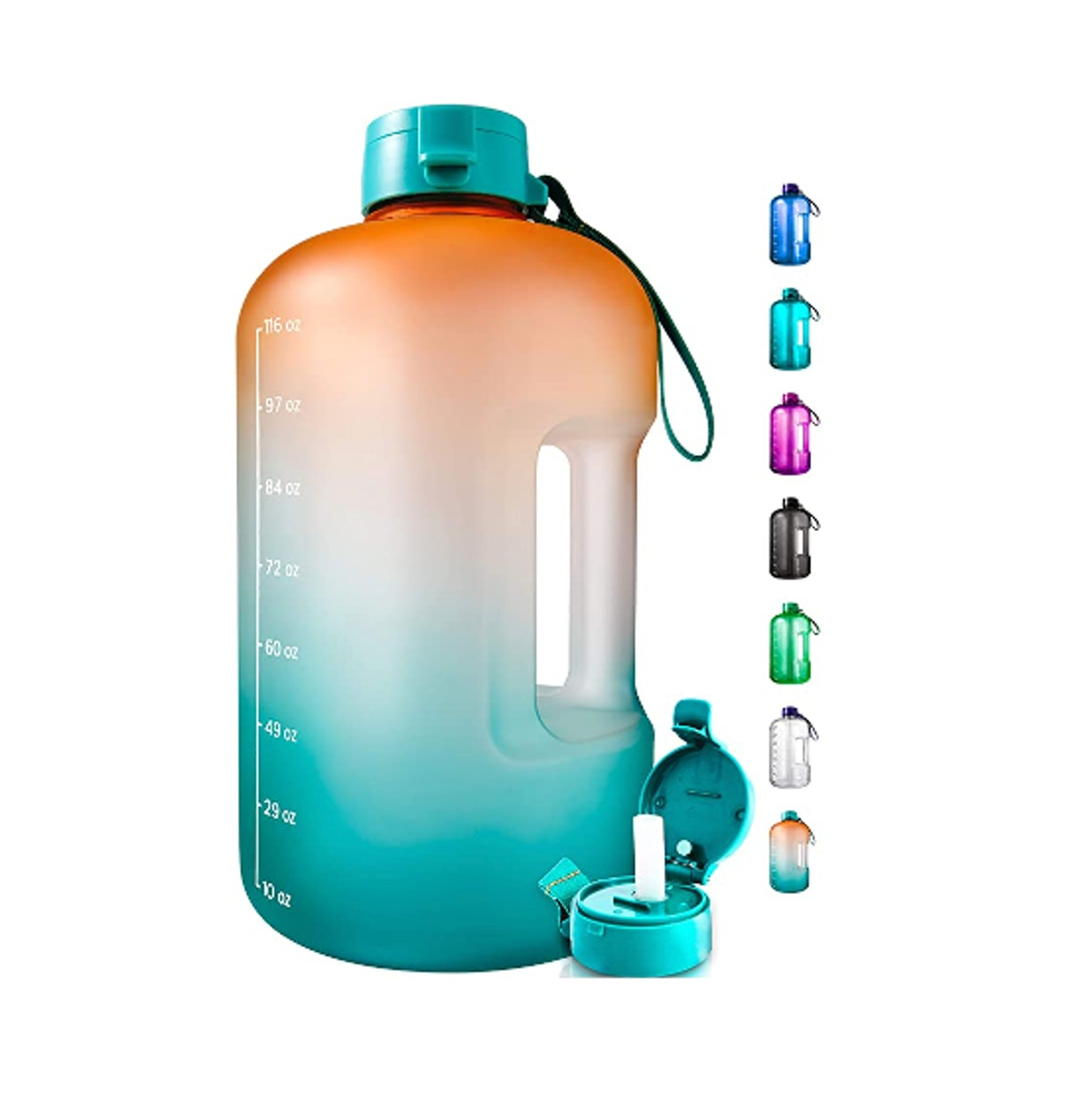 AQUAFIT 1 Gallon Water Bottle with Time Marker