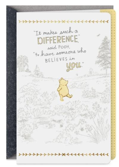 Pooh Bear Card