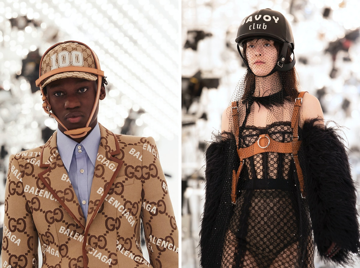 Two Gucci models