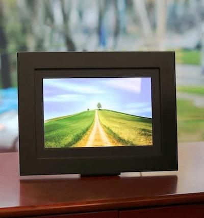 "Brookstone PhotoShare 10.1"" HD Touchscreen Digital Picture Frame"