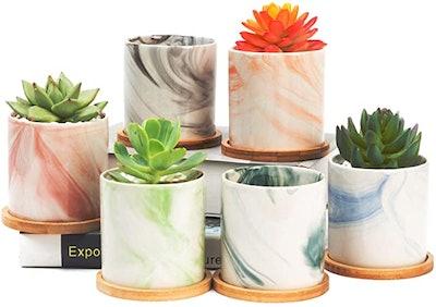 BUYMAX Succulent Plant Pots (Set of 6)