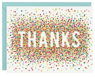 Confetti Thank You Card