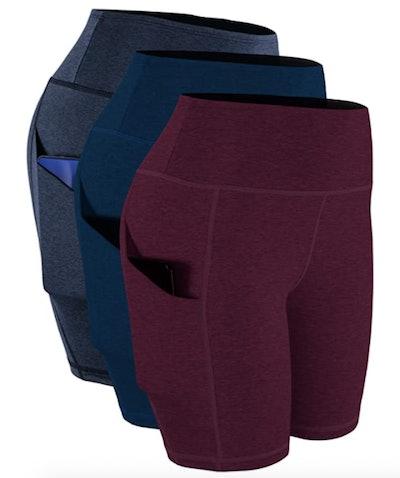 Cadmus High Waist Yoga Shorts (3-Pack)