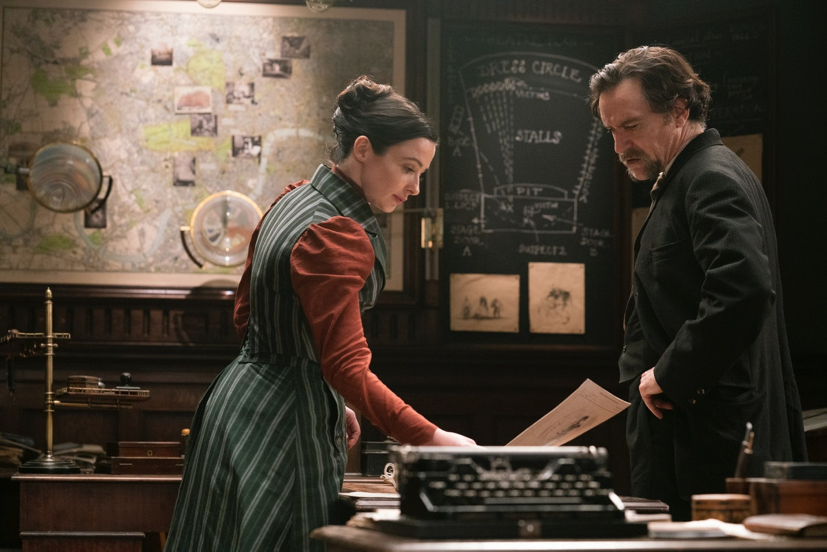 Laura Donnelly as Amalia True and Ben Chaplin as Detective Frank Mundi in The Nevers