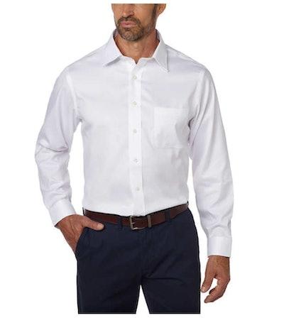 Kirkland Signature Men's Tailored Fit Dress Shirt - Exact Sleeve Length