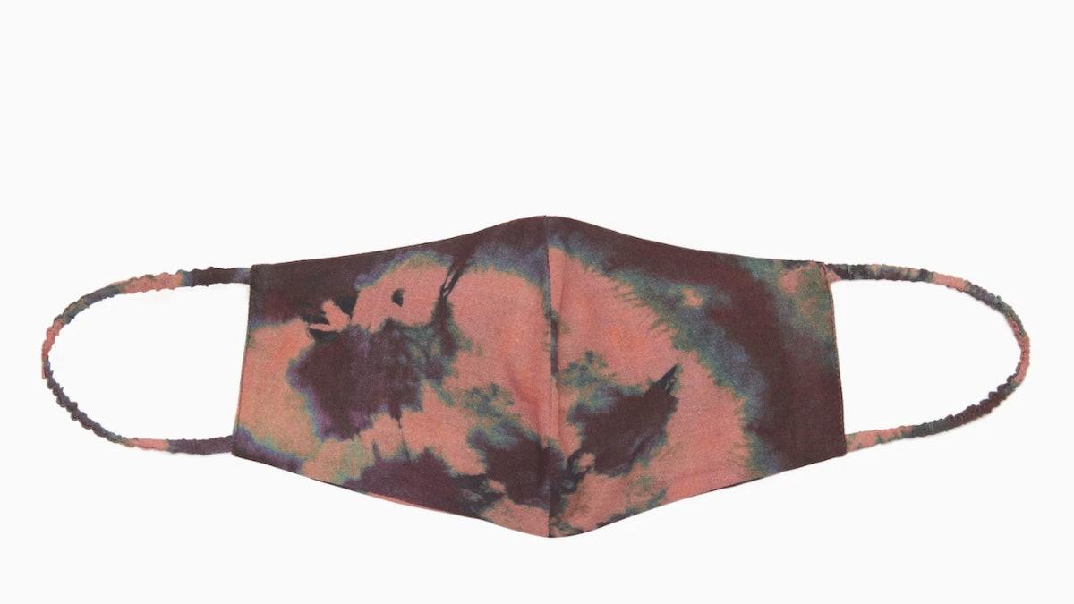 Ulla Johnson Tie-Dye Face Mask in Rosewood