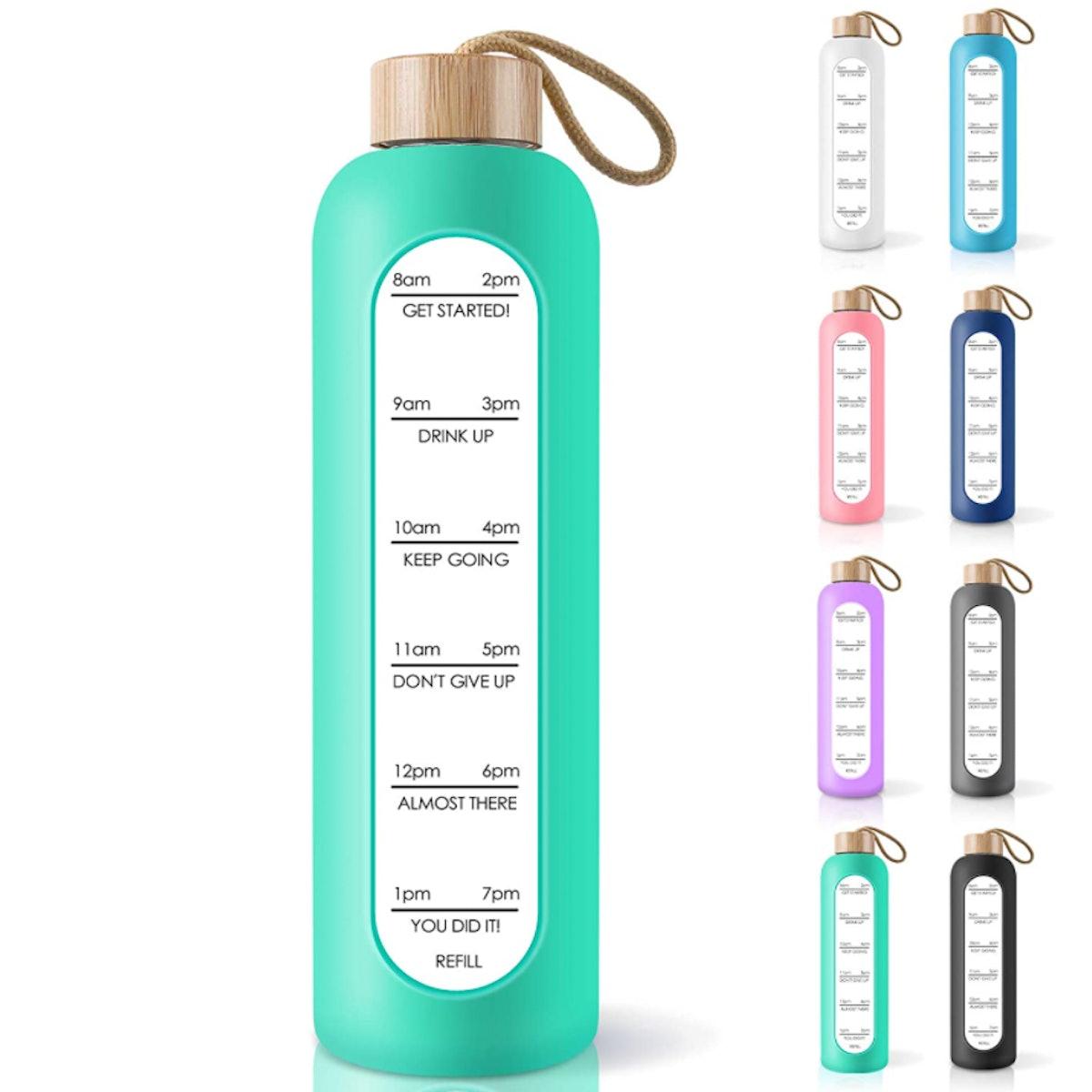 PROBTTL Borosilicate Glass Water Bottle