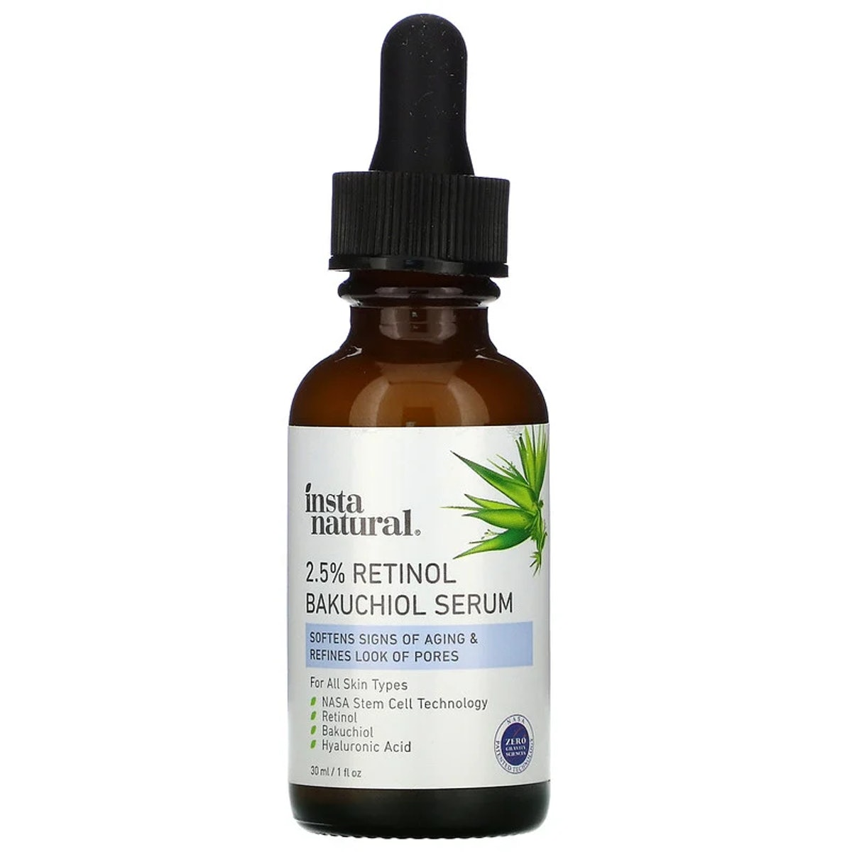 InstaNatural, 2.5% Retinol Bakuchiol Serum