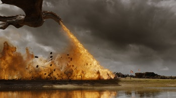 Drogon attack in Game of Thrones Season 7