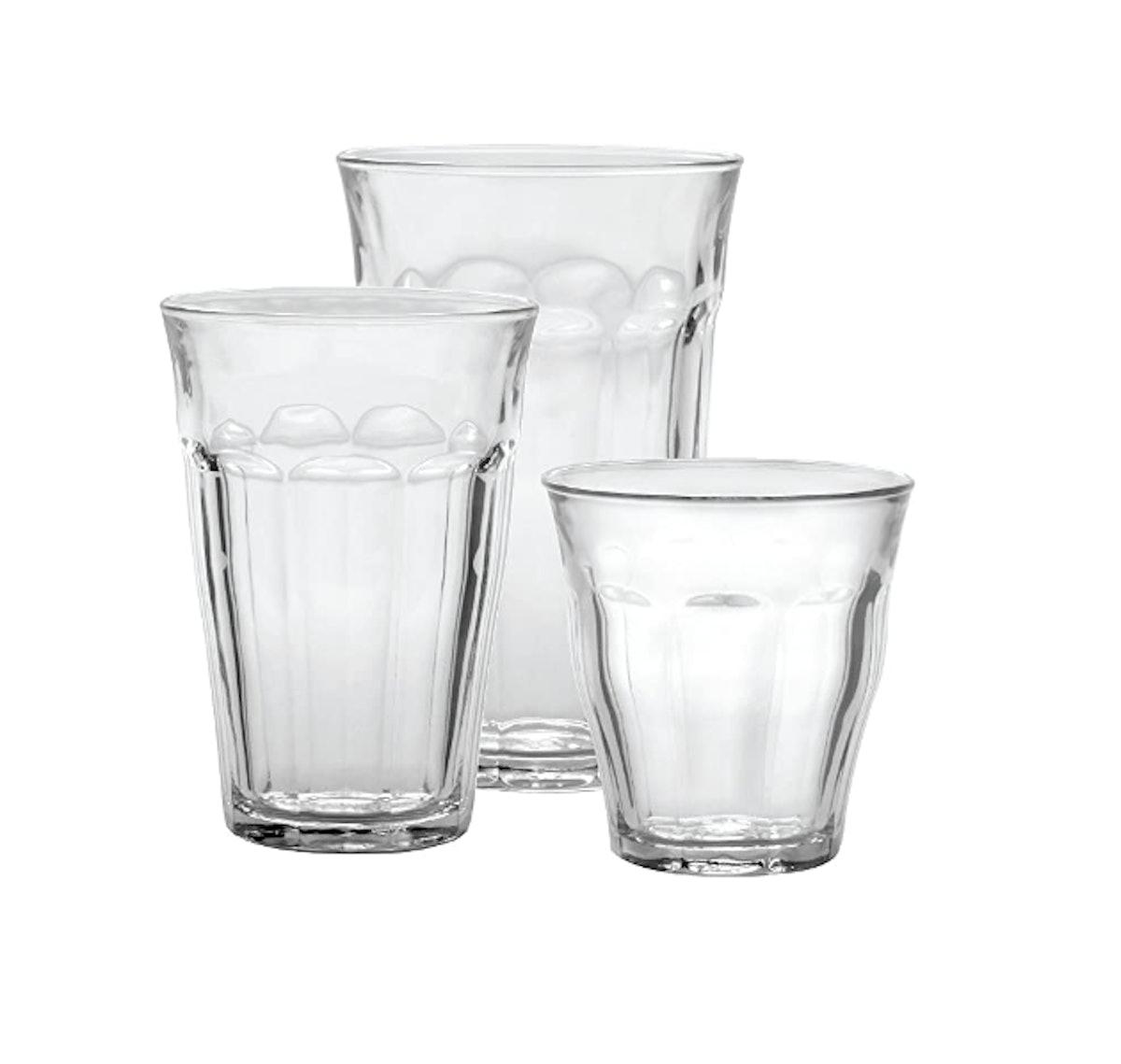 Duralex Clear Drinking Glasses & Tumbler Set
