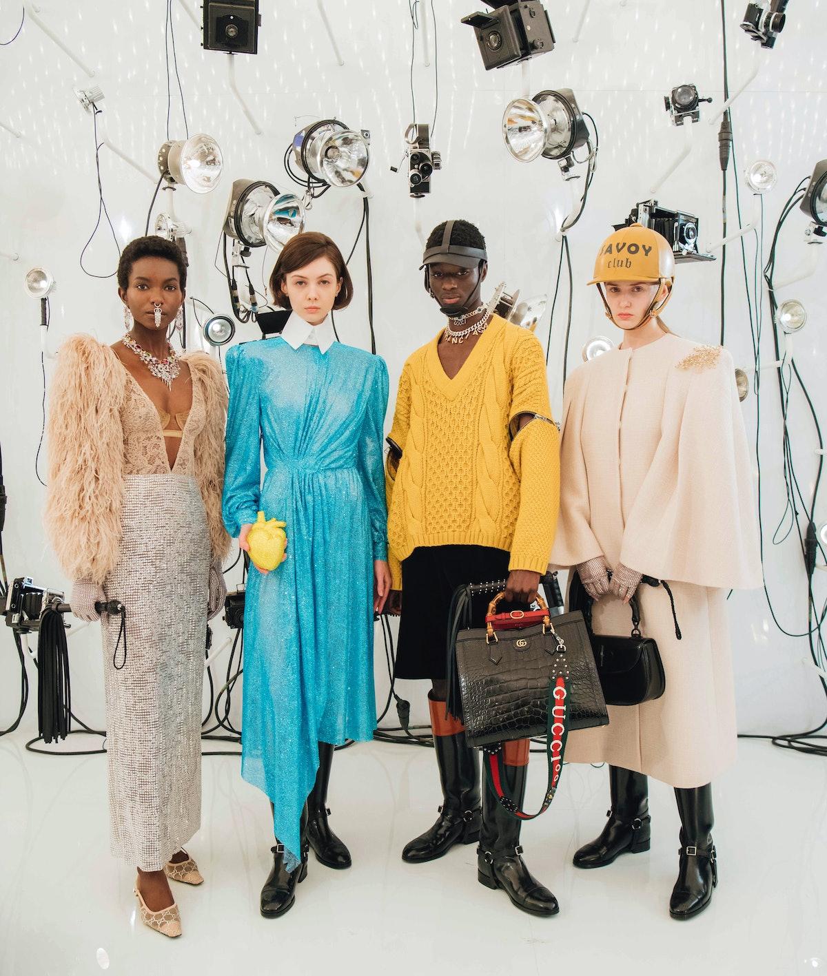 Four Gucci models