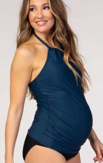High Neck Maternity Tankini