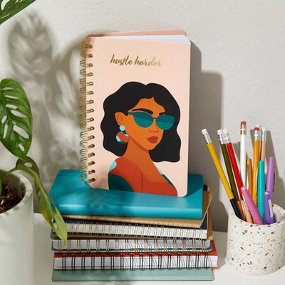 Lined Spiral Journal Hustle Harder - Be Rooted