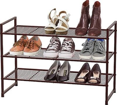 Simple Houseware 3-Tier Stackable Shoes Rack