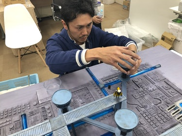 Mistwalker developer creating diorama