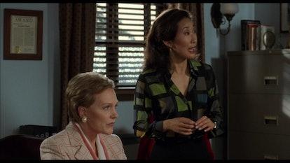 Sandra Oh appeard in 'The Princess Diaries' four years before 'Grey's Anatomy'. Screenshot via Disney+