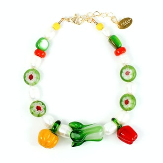 Garden Produce Freshwater Glass Vegetable Bracelet