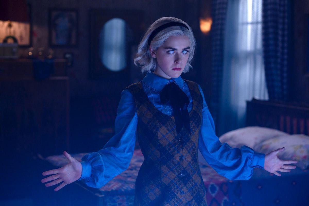 Kiernan Shipka as Sabrina Spellman in Chilling Adventures of Sabrina.